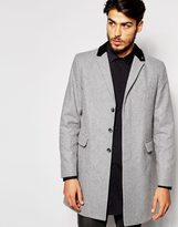 Peter Werth Made In London Wool Overcoat - Grey