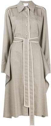 Stella McCartney Leilani belted shirt-dress