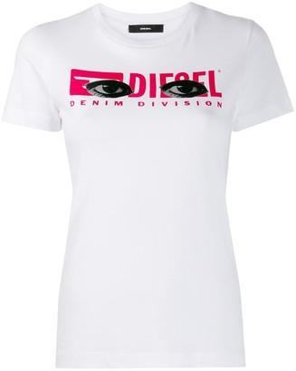 Diesel eye logo print T-shirt