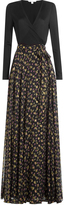 Diane von Furstenberg Silk Maxi Dress with Metallic Thread