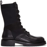 Diesel Black Gold Black Leather High Boots