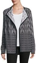 Calvin Klein Jacquard Drape Front Cardigan