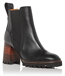 See by Chloe Women's Mallory High Block Heel Chelsea Boots