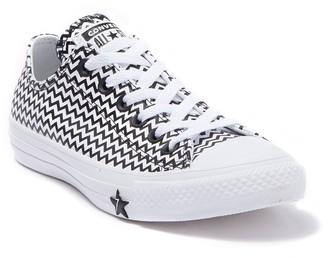 Converse Chuck Taylor(R) All Star(R) Chevron Stripe Leather Low Top Sneaker (Women)
