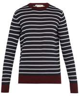 Marni Striped crew-neck wool-knit sweater
