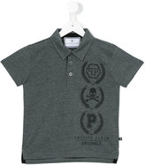 Philipp Plein Junior printed polo shirt