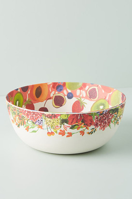 Anthropologie Market Bamboo Melamine Serving Bowl By in Green Size PASTA