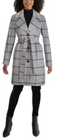 Thumbnail for your product : Jones New York Plaid Single-Breasted Belted Walker Coat
