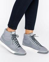Nike Blazer Premium Trainers In Grey
