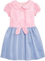 Marmellata Lace-Bodice Denim Dress, Toddler & Little Girls (2T-6X)
