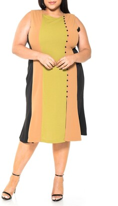 Alexia Admor Anna Midi Colorblock Dress