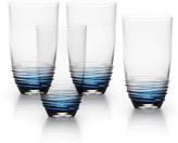 Mikasa Swirl Cobalt Highball Glasses, Set of 4