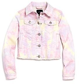 Joe's Jeans Girls' Tie-Dyed Denim Jacket, Little Kid - 100% Exclusive