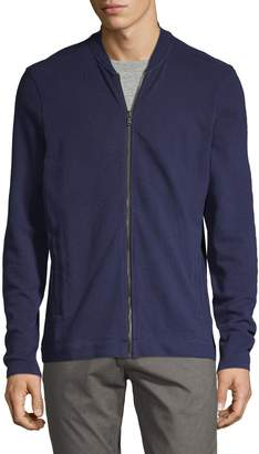 John Varvatos Textured Cotton Bomber Jacket