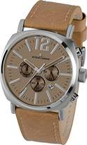 Jacques Lemans Gents Watch Lugano 1–1645F Analogue Display and Gold Leather