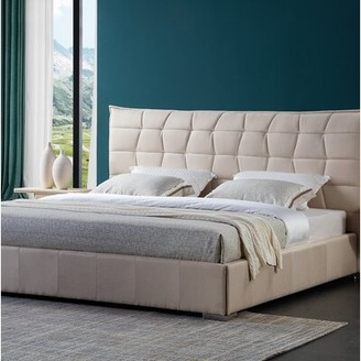 Brayden Studio Fran Solid Wood Upholstered Platform Bed Size: King