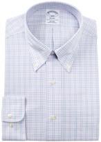 Brooks Plaid Trim Fit Dress Shirt