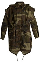 Maison Margiela Camouflage-print hooded cotton jacket