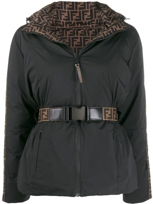 Fendi Logo Lined Puffer Jacket