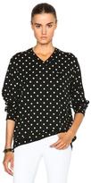Comme des Garcons Wool Jersey Dot Print Black Emblem Sweater in Black,Geometric Print.