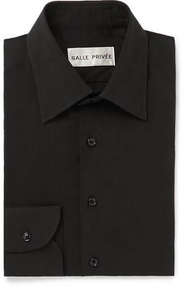 Salle Privée Black Cotton And Silk-Blend Shirt