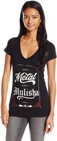 Metal Mulisha Junior's 4 Life V Neck Graphic Tee