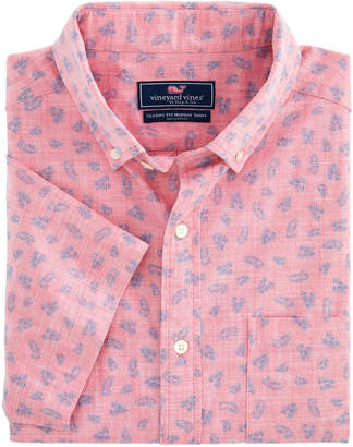 Vineyard Vines Slim Fit Tossed Leaves Murray Short-Sleeve Button-Down Shirt