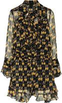 Anna Sui Ruffled printed silk-voile mini dress