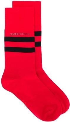 Ganni Striped Socks