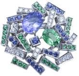 Chaumet 18K White Gold Diamond Le Grand Frisson Ring Size 5.5