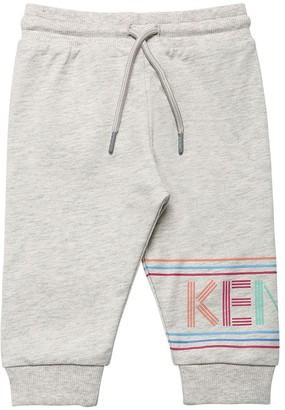 Kenzo Kids Logo Print Cotton Sweatpants