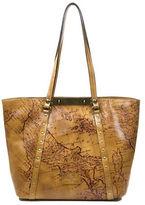 Patricia Nash Benvenuto Geographic Print Leather Tote