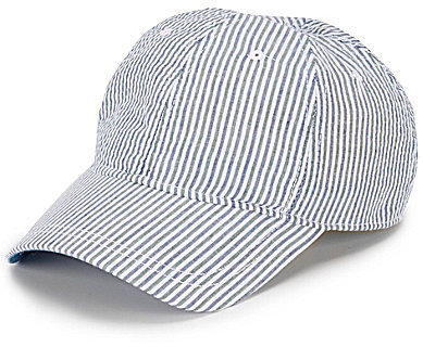 Daniel Cremieux Striped Baseball Cap