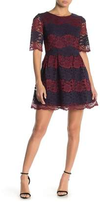 FRNCH Two Tone Lace Dress