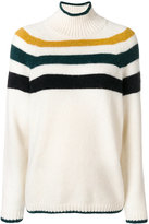 Closed stripe pullover