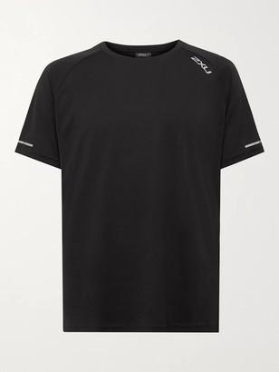 2XU XVENT G2 Logo-Print Stretch-Jersey and Mesh T-Shirt - Men - Black