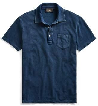Ralph Lauren Indigo Cotton Pocket Polo