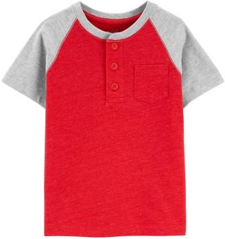 Osh Kosh Toddler Boy Colorblock Pocket Tee