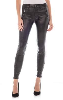 Fidelity Izzy Cotton & Lyocell Blend Faux Leather Skinny Pants