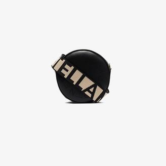 Stella McCartney Black Mini Round Logo Cross Body Bag