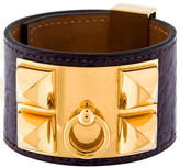 Hermes Alligator Collier de Chien Bracelet
