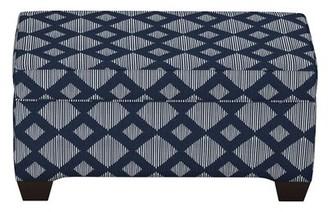 Brayden Studio Pacetti Linen Upholstered Storage Bench Upholstery: Indigo
