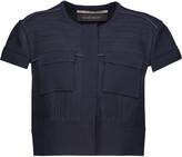 Roland Mouret Clay cropped crepe-paneled piqué jacket