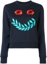 Paul Smith floral face sweatshirt - women - Cotton - XS