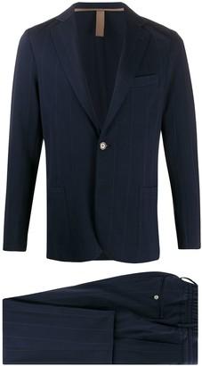 Eleventy Pinstripe One-Button Blazer