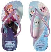 Havaianas Slim Frozen Flip Flops Girls Shoes