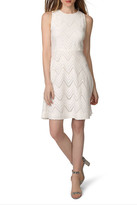 Donna Morgan Chevron Lace Fit & Flare Dress