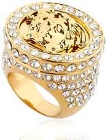 Versace Medusa Ring W/ Crystals