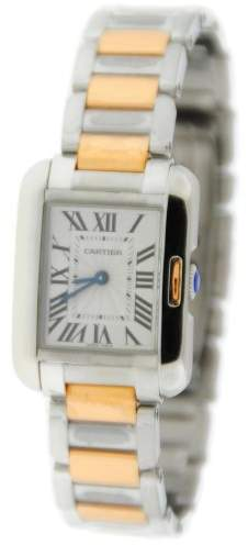 Cartier Tank Anglaise W5310036 18K Rose Gold and Stainless Steel 23mm x 30mm Watch