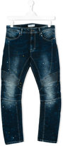 John Galliano regular jeans - kids - Cotton/Polyester/Spandex/Elastane - 16 yrs